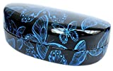 Colorful Hard Shell Eyeglass Sunglass Case - Blue Butterfly