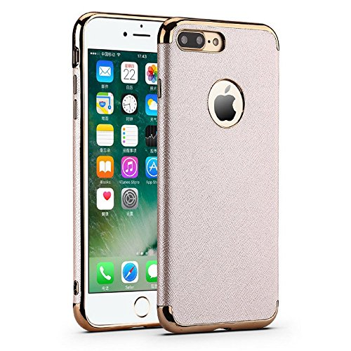 Haute Fashion (Luxe Two-Tone High-End Case - Haute New Fashion With Rose Gold Trim - iPhone 7 (Gold))