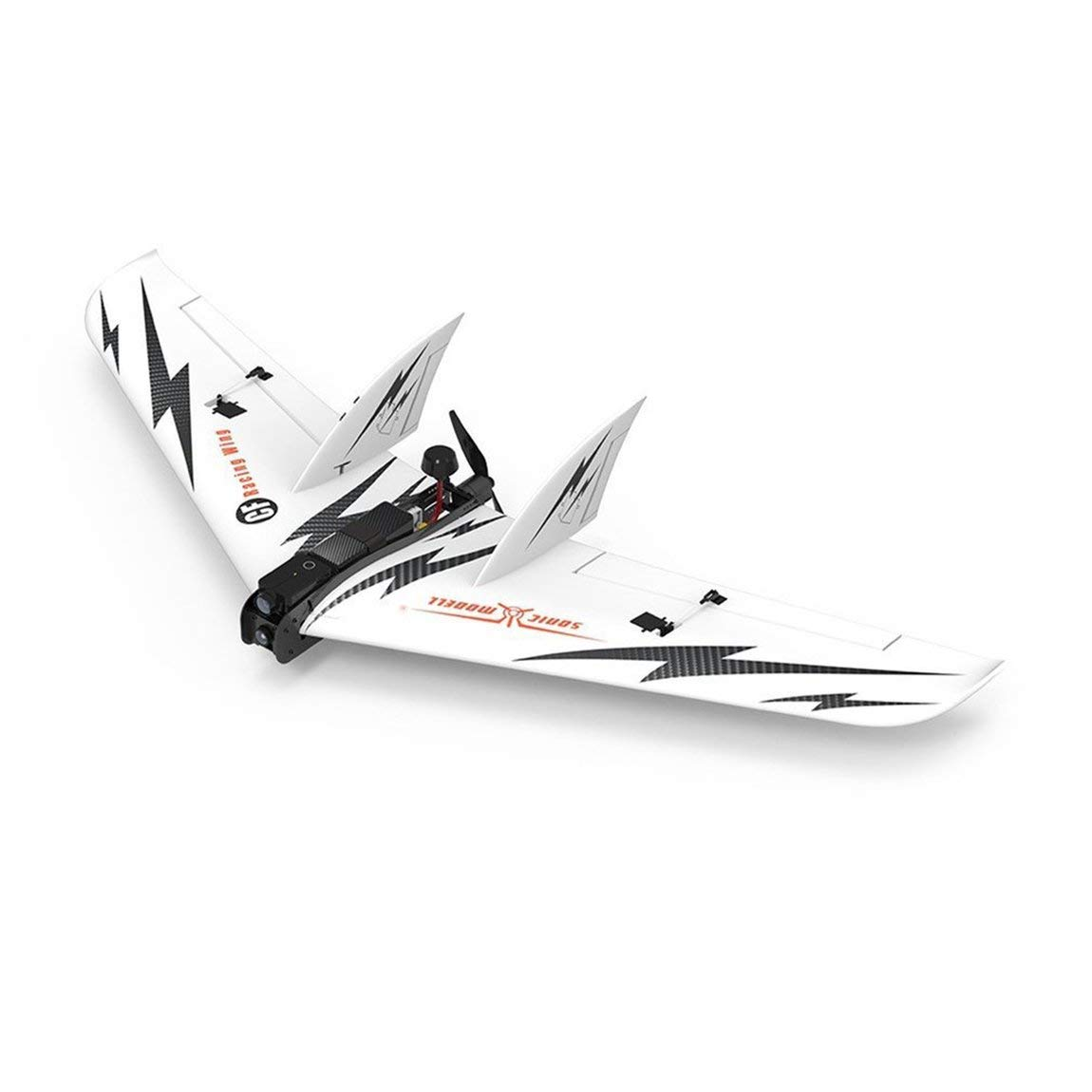 73JohnPol Sonic Modell 1030mm Spannweite EPO FPV Fixed Wing RC Flugzeug Drone Aircraft PNP Carbon RC Flugzeug mit Brushless Motor (Farbe  weiß)