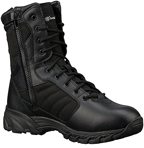 Smith & Wesson Men's Breach 2.0 Tactical Size Zip Boots, Black, 9