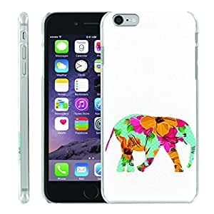 [ManiaGear] [SLIGHT] Thin Clip On Image Shell Cover Hard Case (Flower Elephant) for Iphone 6 (4.7)