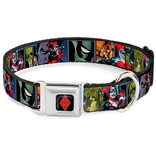 Buckle-Down Seatbelt Buckle Dog Collar - Harley Quinn/Night