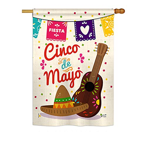 Angeleno Heritage Fiesta Cinco de Mayo Country & Primitive - Everyday Southwest Impressions Decorative Vertical House Flag 28