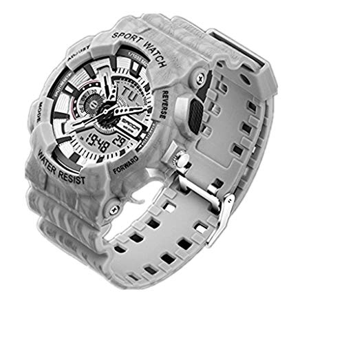 Sports Watch,Men Sports Watches Chronograph Military Digital Wrist Waterproof Watches(Gray)