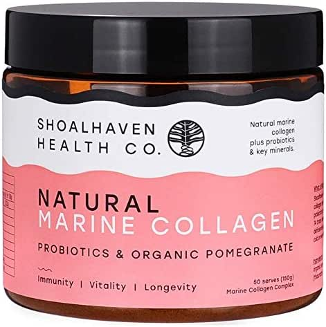 Pure Natural Marine Collagen Peptides - Delicious Hydrolyzed Collagen Protein Powder with Pomegranate Taste + Probiotics and Antioxidants - Supports Healthy Skin, Nails, Hair and Digestive System