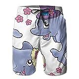 DELIDAA Cute Wedding Dolphins Men Boy Casual Quick-Drying Beach Pant Swim Surf ShortsMedium