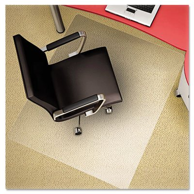 Deflecto Polycarbonate EconoMat, Clear Chair Mat, All Carpet Types Use, Rectangle, Straight Edge, 46'' x 60'', Clear (CM11442FPCCOM) by Deflect-O