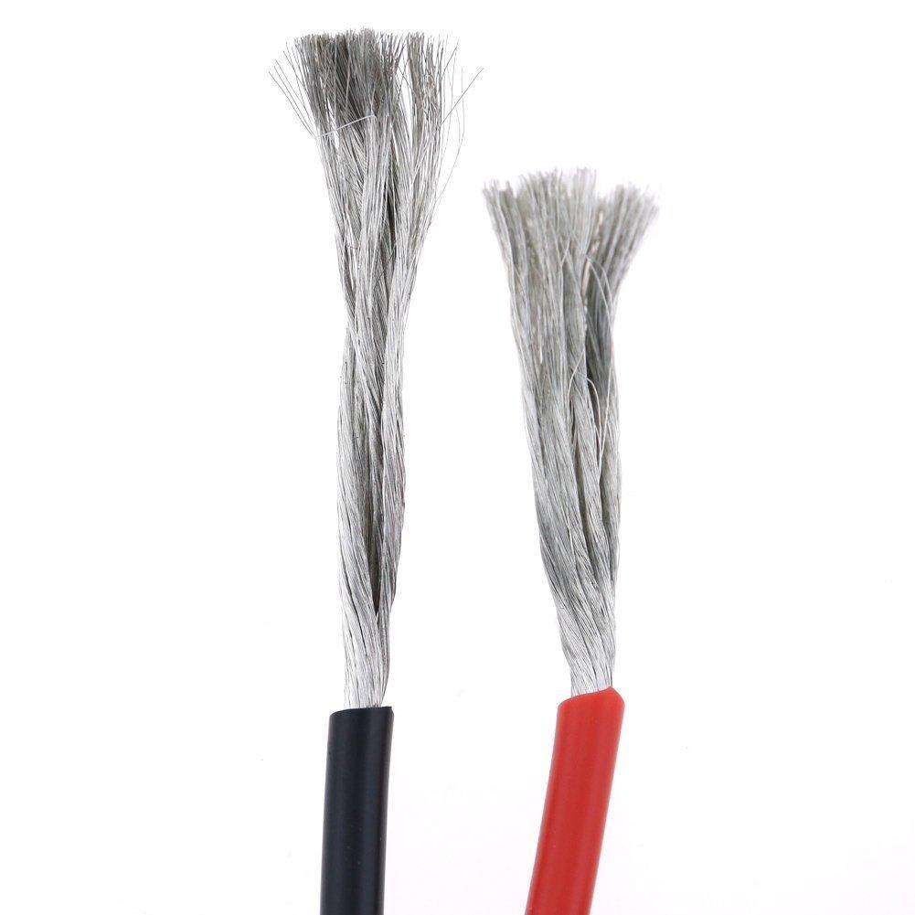 6/m Noir et 6/m Rouge ycnk calibre 12/Fil en silicone 12/pieds haute r/ésistance /à la temp/érature douce et souple 12/AWG fil en silicone