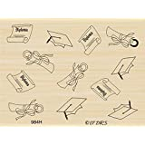 Graduation Background Rubber Stamp By DRS Designs