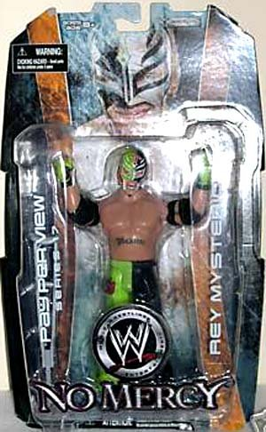 (WWE Wrestling Action Figure PPV Pay Per View Series 17 Rey Mysterio (Green and Black Mask))