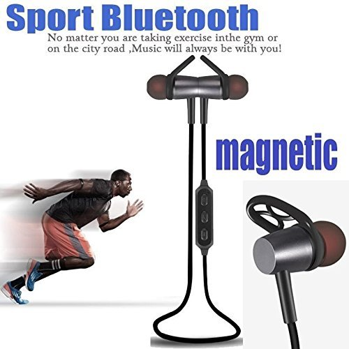 Bluetooth Headphones, Wireless Sport Bluetooth Earphone 4.1 Magnetic Design Stereo Bass Headphones with Mic Noise Reduction Suitable For SONY Xperia XZ, SONY Xperia XA1, SONY Xperia Z5