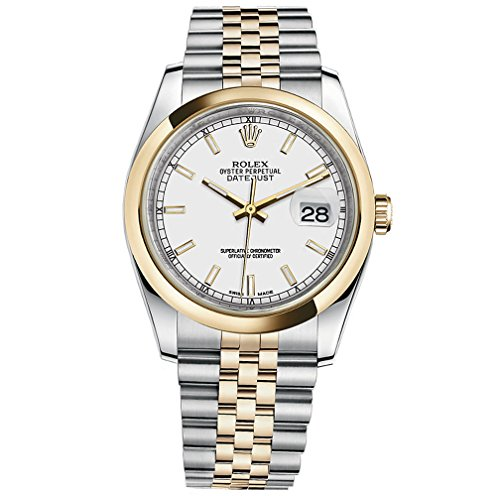 Rolex Datejust 36 Steel Yellow Gold Watch White Dial 116203