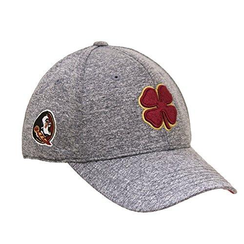 Black Clover Heather Garnet/Gold/Heather FSU Premium Fitted Hat - -