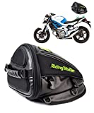 Motorcycle Back seat Bag, Hkim Waterproof Motorcycle bag, Motorbike Tail Bag Rear Seat Storage Bag for Honda Yamaha Suzuki Kawasaki Harley, Black, 4 Liter Capacity