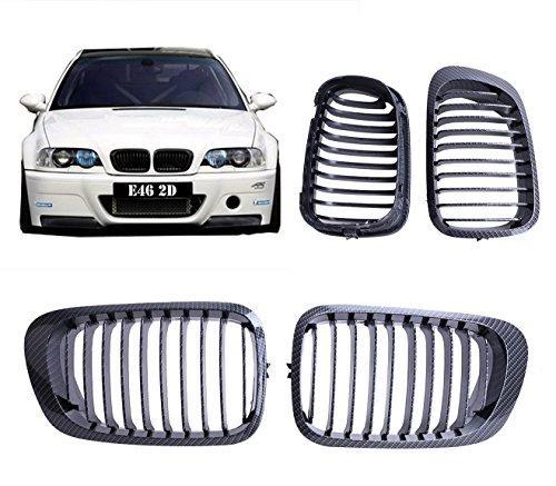 Jade onlines de 2pcs carbono negro rejilla frontal Riñón Grill para BMW E462puertas 2d Serie 3Coupe...