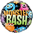 "Qualatex Foil Balloon 18493 Monster BASH Chevron, 18"", Multicolored"