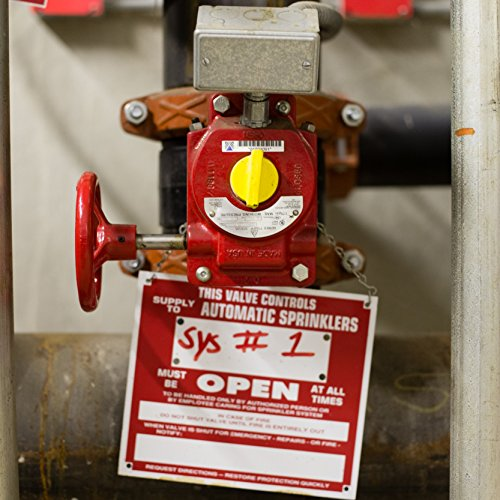 Lockout Safety Supply 7246 Gate Valve Lockout, 5'' - 6.5'' Wheel, Red by Lockout Safety Supply (Image #2)