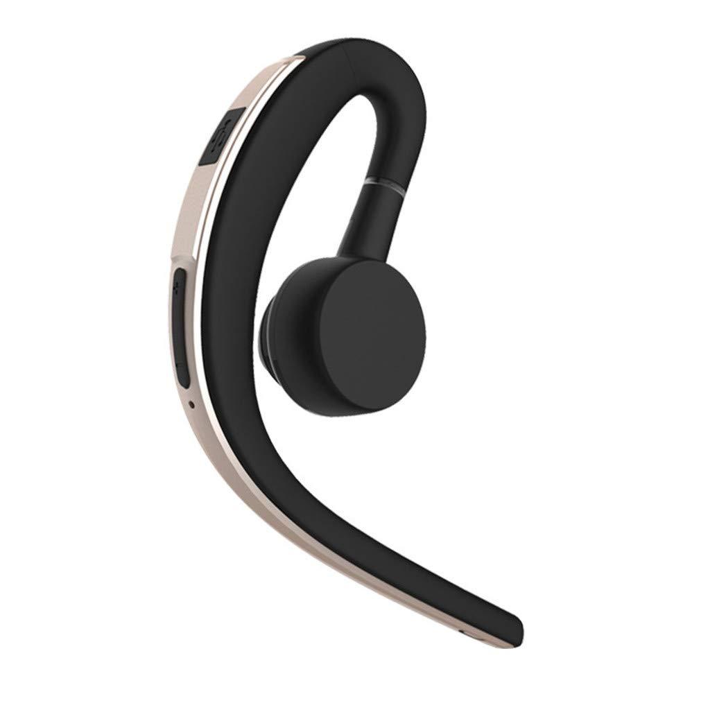 FEDULK Bluetooth イヤホン V4.1 ワイヤレスヘッドセット ステレオ 快適フィット イヤーフック スポーツ ハンズフリーヘッドフォン, One Size, ゴールド, FEDULK-0313  ゴールド B07PMDXDF3