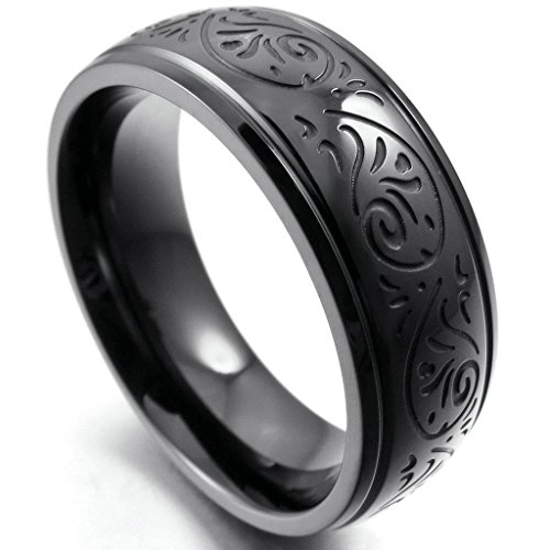 epinkifashion-jewelry-mens-7mm-stainless-steel-rings-band-black-engraved-florentine-design-charm-ele