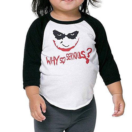 ALIPAPA Kids Boy's & Girl's Why So Joker 3/4 Sleeve Baseball Tees Size 5-6 Toddler