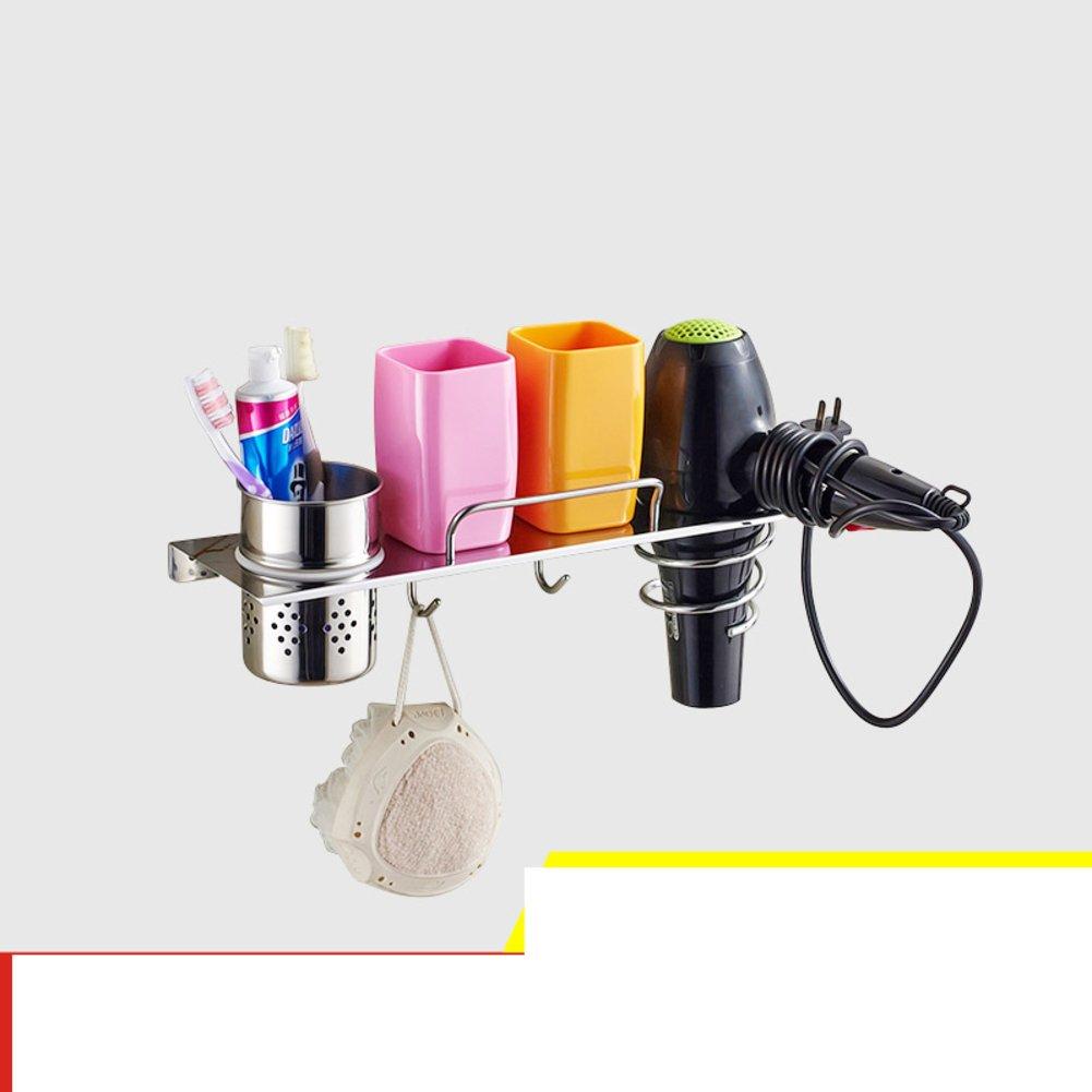 Hair Dryer Holder,Hair Dryer Shelf,Hair Blow Dryer Holder, stainless steel hair dryer rack toilet Bathroom storage rack Wall-mounted Storage cartridge-B