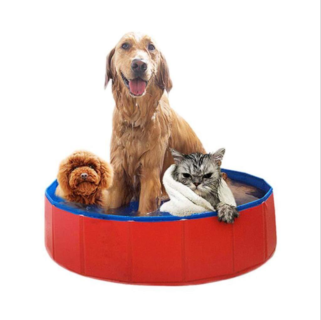 120x30cm MDMMBB Dog cat tub tub folding large tub swimming pool pet supplies (Size   120x30cm)