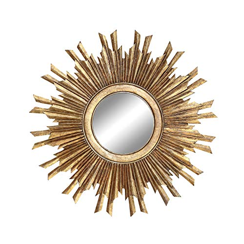 Creative-Co-op-Round-Sunburst-Mirror-with-with-Gold-Finish