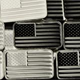 (US) 1 Gram .999 Pure Silver American Flag Bar