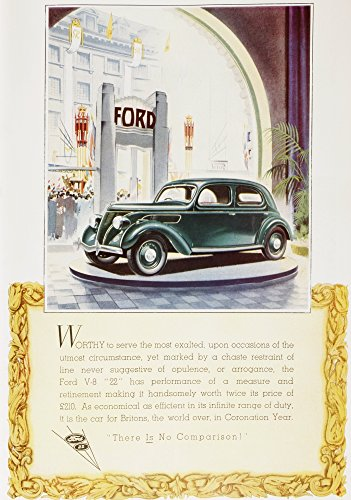 A 1937 advertisement for the Ford- V8 22 car From The Sphere Coronation Record Number published 1937 Poster Print by Hilary Jane Morgan Design Pics (11 x 17)