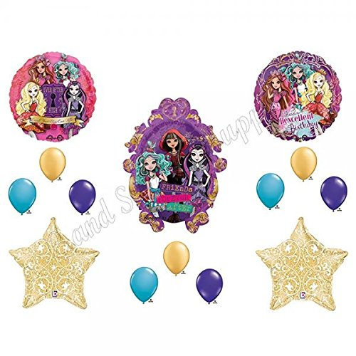 (EVER AFTER HIGH FILAGREE Happy Birthday Balloons Decoration Supplies Monster Hexcellent by Party)