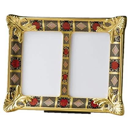 28eb5790c60 Royal Crown Derby 1st Quality Old Imari Solid Gold Band SGB Double Picture  Frame  Amazon.co.uk  Kitchen   Home