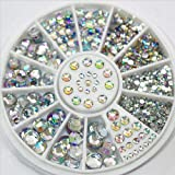 Nail Art Decoration | 5 Sizes White Multicolor Rhinestones