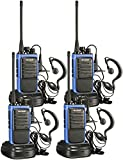 Arcshell Rechargeable Long Range Two-Way Radios with Earpiece 4 Pack UHF 400-470Mhz Walkie