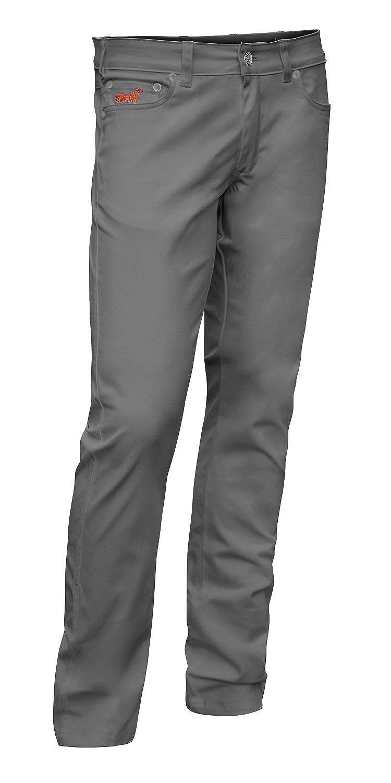 Pantaloni Elasticizzati Uomo Milano 5 tasca, stile jeans in cotone 260 gm - pantaloni Medico, Infermiere pantaloni - KERMEN - made in UE - Bianco Grigio Nero