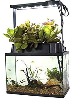 ECOLIFE Conservation ECOCycle Aquaponics Indoor Garden System with LED Light Upgrade