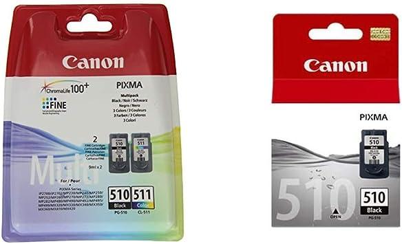 Canon Tintenpatrone Cl 511 Mehrfarbig 9ml Original Tintenpatrone Pg 510 Schwarz Black 9 Ml Für Pixma Drucker Original Bürobedarf Schreibwaren