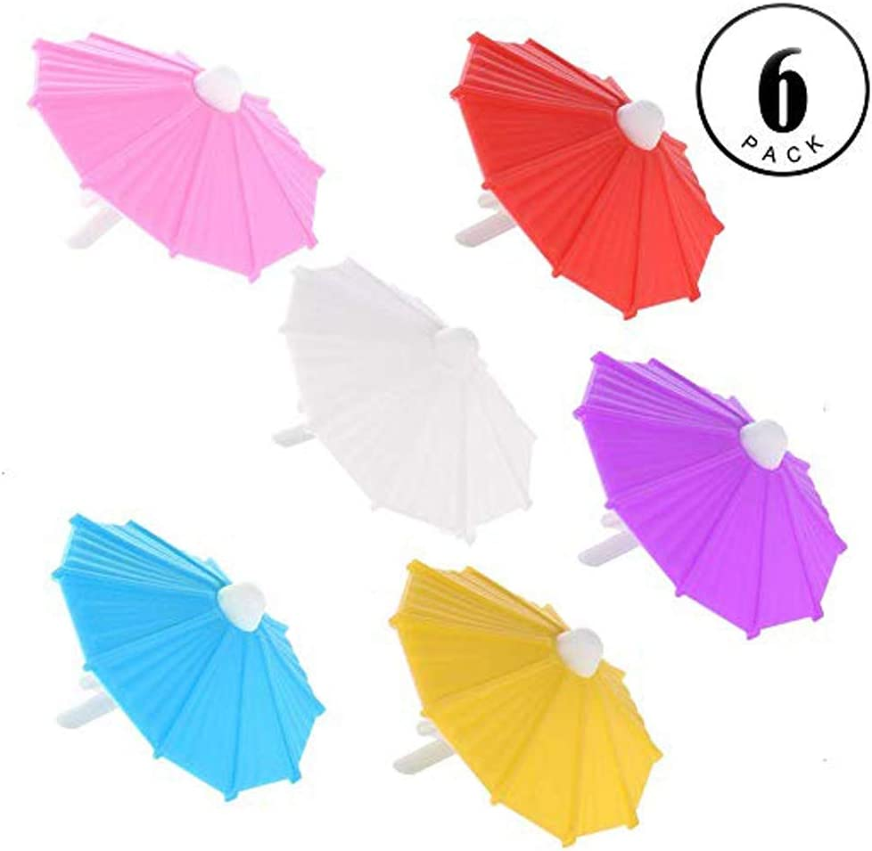 Umbrella Drink Markers/Wine Glass Markers Drink Charms(6-Count)