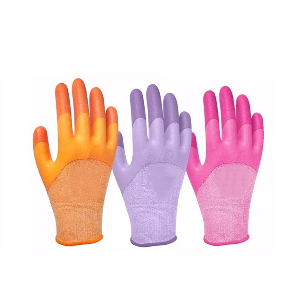 YSNBM Industrial Gloves, Knit Wrist Cuffs for Precision Work, Women's Gardening, DIY, (Powder, Purple, Blue12 Pairs) Gas Station,Dry Ice,Cold Storage,Industrial Glove