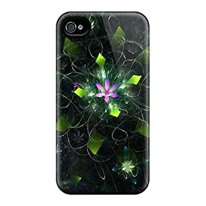 New Premium MQoKlwG5446EmZsF Case Cover For Iphone 4/4s/ Fractal Pond Protective Case Cover