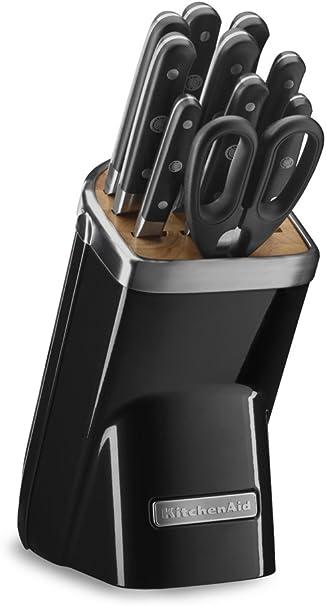 Amazon Com Kitchenaid Kkfma11ob Professional Series 11 Piece Cutlery Set Onyx Black Kitchen Dining