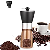Manual Coffee Grinder, Portable Coffee Bean Grinder Burr Mill with Adjustable Nuts Hand Coffee Machine for Travel & Gifts