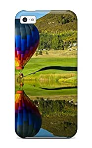 Anti-scratch And Shatterproof Hot Air Balloons Phone Case For Iphone 5c/ High Quality Tpu Case