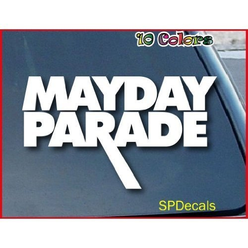 Parade Band (BLACK COLOR MAYDAY PARADE BAND DECAL DECORATION LAPTOP MACBOOK DECOR NOTEBOOK ART WALL ART HOME DECOR WINDOW AUTO WALL)