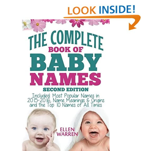 Baby Names The Complete Book Of Best Thousands