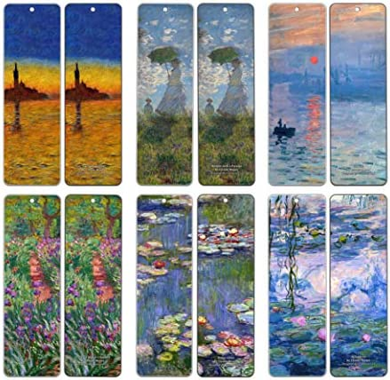 Claude Monet Bookmarks 60 Pack Paintings