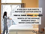Sheets & Giggles 100% Eucalyptus Lyocell Sheet Set. Versus Cotton or Bamboo, Our Eucalyptus Sheets are Softer, Cooler, Temperature-Regulating, Sustainable, Pesticide-Free, Hypoallergenic. No
