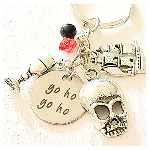 Yo Ho Yo Ho Pirates of The Caribbean-Inspired Accessories Charm Keychain Gift for a Brave Buccaneer