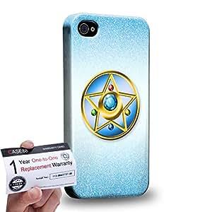 Case88 [Apple iPhone 4 / 4s] 3D impresa Carcasa/Funda dura para & Tarjeta de garantía - Sailor (Series Moon) Mercury Compact Case