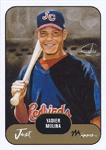(2002 Just Minors Yadier Molina Minor League Johnson City - St Louis Cardinals Prospect Baseball Rookie Card)