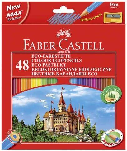Faber-Castell 120148 - Pack de 48 lápices y sacapuntas: Amazon.es ...